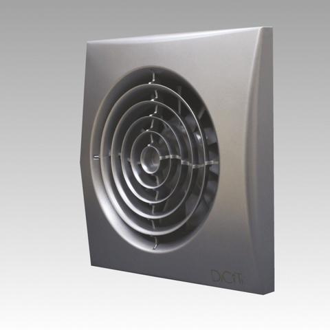 Вентилятор накладной Эра AURA 5C DARK GREY METAL D125 с обратным клапаном