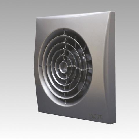 Вентилятор накладной Эра AURA 4C DARK GREY METAL D100 с обратным клапаном