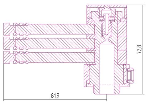 Вешалка Сунержа ВЕЕР-3 L 82 для водяных полотенцесушителей