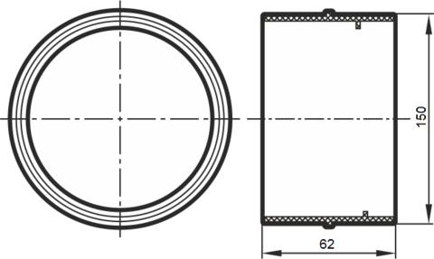 Соединитель-муфта 150 мм пластиковый