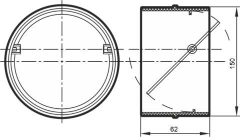 Соединитель-муфта с обратным клапаном 150 мм пластиковый