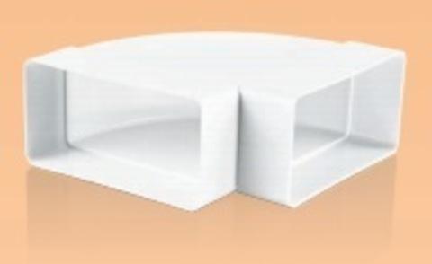 Колено горизонтальное 220х90 мм пластиковое