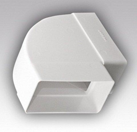Колено горизонтальное 220х55 мм пластиковое
