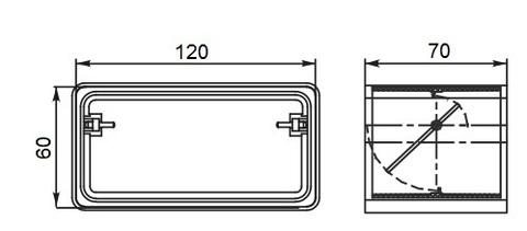 Соединитель-муфта с обратным клапаном 120х60 мм пластиковый