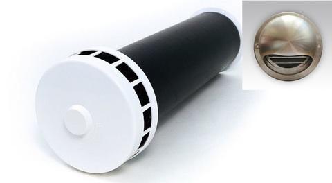 Клапан Инфильтрации Воздуха Airone КИВ 125 0.5м с выходом стенным из нержавеющей стали.