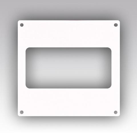 Накладка торцевая 120х60 мм пластиковая