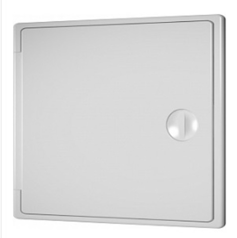 Люк-дверца накладной с замком 150х150 пластиковый