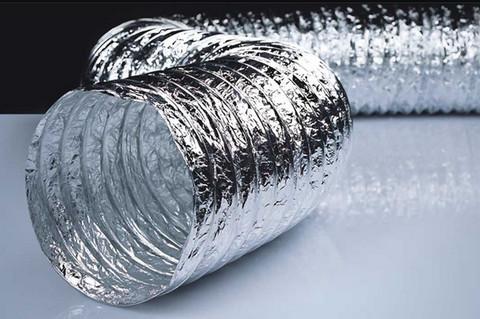 Воздуховод 127мм гибкий армированный, металлизированная пленка 70 мкм/10м