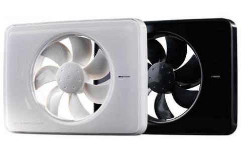 Вентилятор накладной FRESH Intellivent Black (таймер, датчик влажности, программируемый)