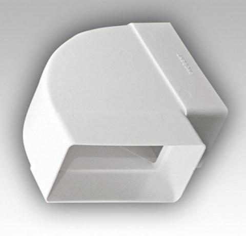 Колено горизонтальное 110х55 мм пластиковое