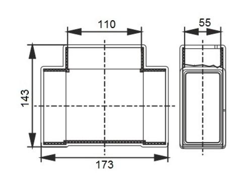 Тройник Т-образный 110х55 мм пластиковый