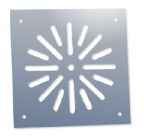 Решётка напольная 100х100 (вариант 2) из нержавеющей стали