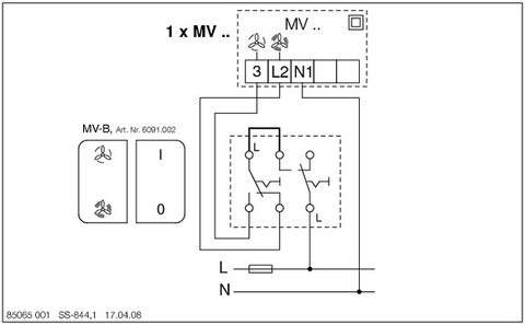 Регулятор скорости Helios MVB (2-х ступенчатый)