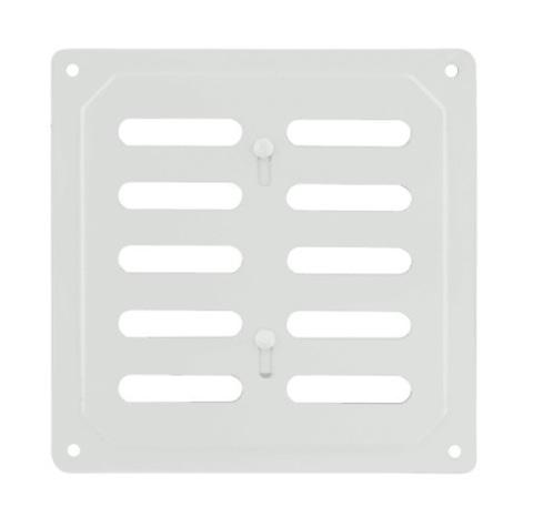 Решетка с заслонкой (заглушкой) 200х200 мм Белая