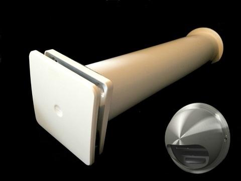 Клапан Инфильтрации Воздуха Airone КИВ К1 100 1м с выходом стенным из нержавеющей стали
