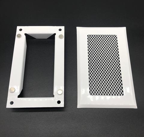 Решетка приточно-вытяжная с фланцем на магнитах 110х55 мм стальная