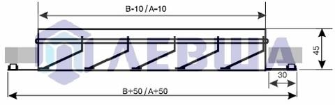 Решетка наружная алюминиевая EAL 300х300