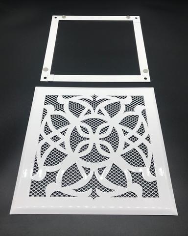Решетка стальная на магнитах РП Лотос-150 сетка, белая