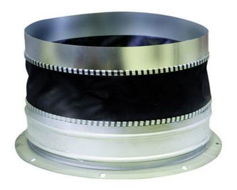 Гибкая вставка D 400 (с фланцевым кольцом и ниппельным соединением)