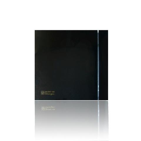 Вентилятор накладной S&P Silent 100 CRZ Design 4С Black (таймер)