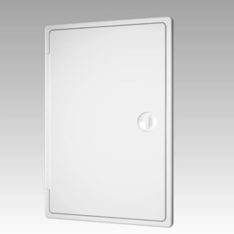 Люк-дверца накладной с замком 300х300 пластиковый