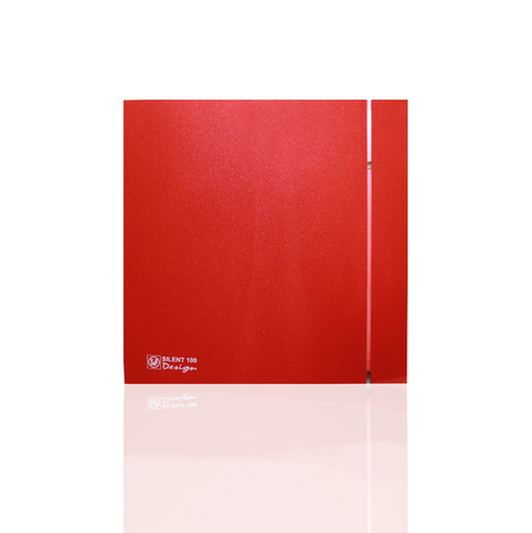 Вентилятор накладной S&P Silent 100 CRZ Design 4С Red (таймер)