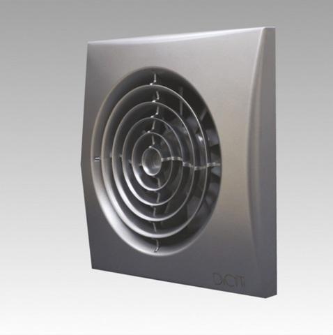 Вентилятор накладной Эра AURA 5C GRAY METAL D125 с обратным клапаном