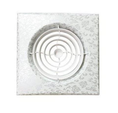Вентилятор накладной Эра AURA 5C WHITE DESIGN D125 с обратным клапаном