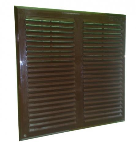 Решетка накладная 450х450 мм коричневая Maxpol 450МХР-b