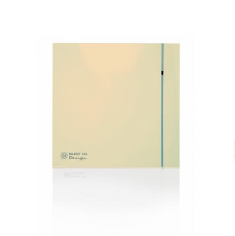 Вентилятор накладной S&P Silent 200 CRZ Design 4C Ivory (таймер)