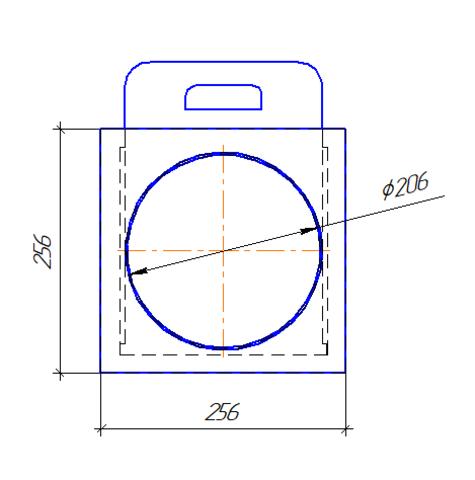 Шибер/задвижка D 200 мм полипропилен