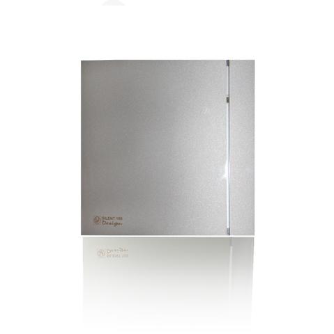 Вентилятор накладной S&P Silent 200 CHZ Design 3C Silver (таймер, датчик влажности)