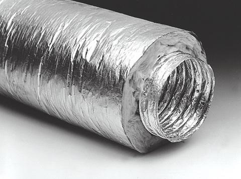 Воздуховод 127 гибкий армированный, теплоизоляция 30мм,металлизированная пленка 70мкм/10м