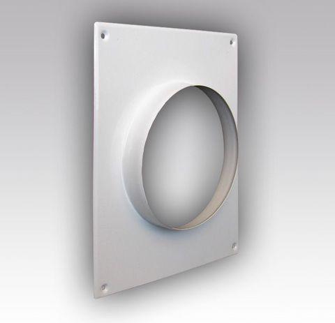 Торцевая площадка стальная 175*236/ф100 без решетки, с полимерным покрытием эмалью