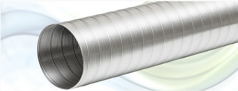 Воздуховод белый DEC Stretchdec White 102мм (3 м)