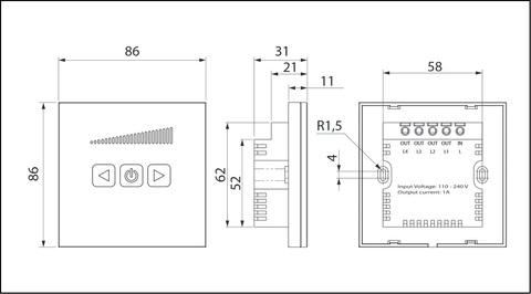 Сенсорный регулятор скорости Vents СРС-1 (плавный)