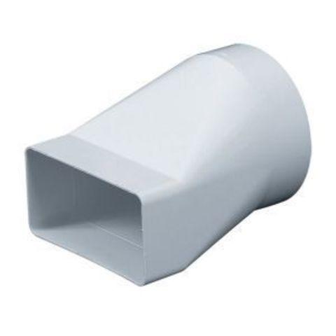 Соединитель прямой 150х75/125 мм пластиковый