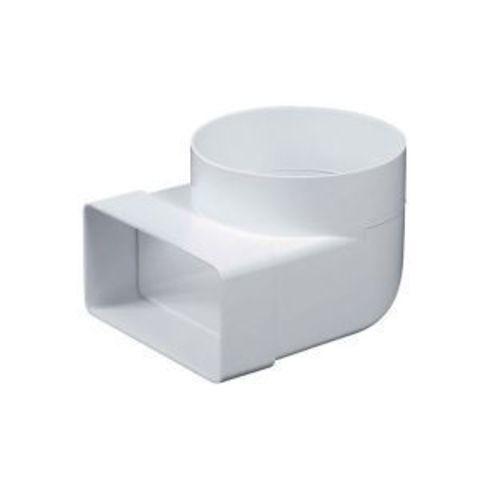 Соединитель угловой 150х75/125 мм пластиковый