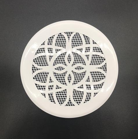 Решетка стальная на магнитах Лотос-100 сетка, белая