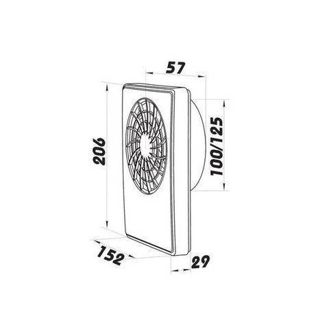 Вентилятор накладной Vents iFan 100/125 Celsius (таймер, датчик температуры, пульт ДУ)