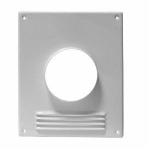 Торцевая площадка стальная 197х238/ф100 с решеткой, с полимерным покрытием эмалью