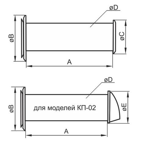 Клапан приточный Эра 10КП1-02 1м