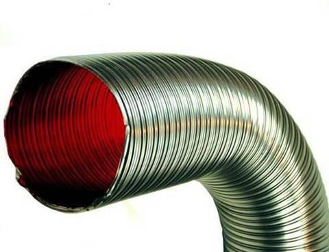 Газоход гофрированный d 140 мм (3м) из нержавеющей стали