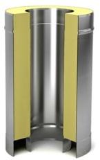 100 мм / 120 мм Сэндвич труба 100/180 0,5м  (нерж 0,5 / цинк 0,5) труба.jpg