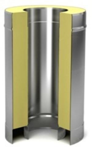 Сэндвич труба 100/180 0,5м  (нерж 0,5 / цинк 0,5)