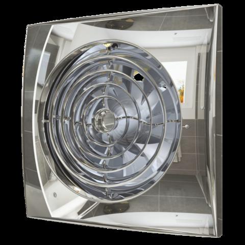 Вентилятор накладной Эра AURA 5C CHROME D125 с обратным клапаном
