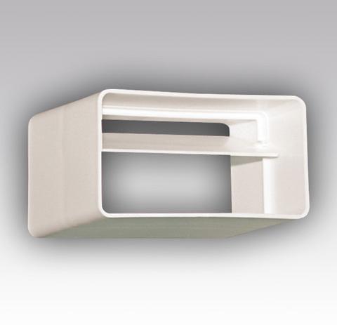 Соединитель-муфта с обратным клапаном 220х55 мм пластиковый