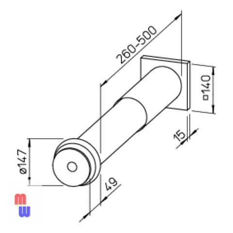 Приточный клапан Helios ZLA 100 (саморегулирующийся)