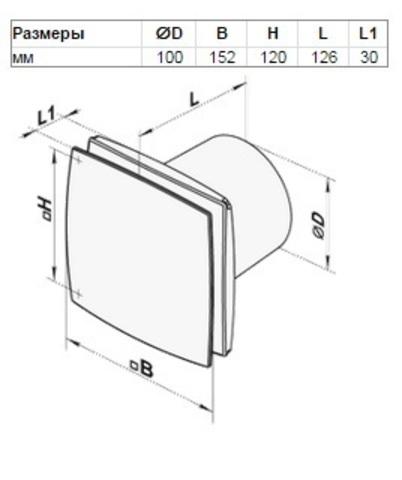 Вентилятор накладной Vents 100 LD