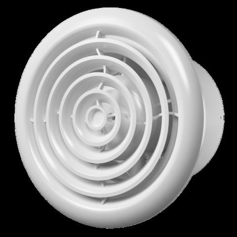 Вентилятор накладной Эра FLOW 5C BB D125 с обратным клапаном (двигатель на шарикоподшипниках)